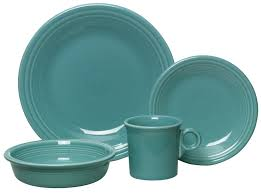 dining room wonderful dinnerware set in turquoise theme by
