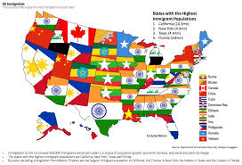 map of us states political map shows the countries other than mexico that the most