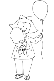 ballons and cotton candy coloring page mattie u0027s bday ideas