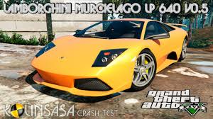 lamborghini reventon crash gta 5 crash test lamborghini murcielago lp 640 v0 5 youtube