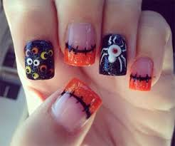 221 best halloween nail art images on pinterest fall nails