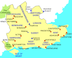 map of east uk bed and breakfasts uk b b in south east