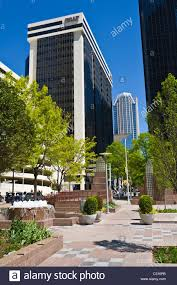 modern buildings in downtown charlotte north carolina stock photo
