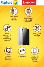 Buy Mattress Online India Flipkart Lenovo Vibe P1 Buy Lenovo Vibe P1 Silver 32 Gb Online At Best
