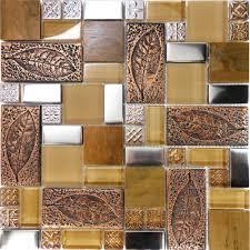 Copper Backsplash For Kitchen by Kitchen Backsplash Mosaic Rigoro Us