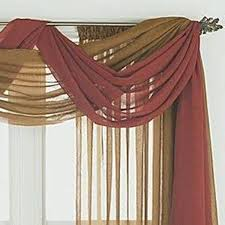 home design and decor pretty window scarf ideas double colors