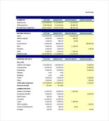 Business Budget Template Excel Free Budget Spreadsheet Template 3 Free Excel Documents