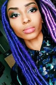 black women with purple hair colored natural hair inspiration