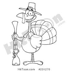 thanksgiving turkey clipart 231270 coloring page outline of a