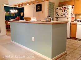 painted kitchen island and easy change painting the kitchen island