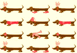 dachshund christmas wrapping paper christmas luxury designer decorative gift wrap paper