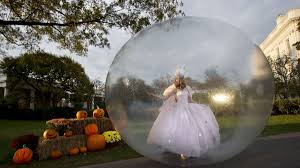 Halloween Bubble Night Lights Pumpkins Acrobats And The Obamas Trick Or Treating At The White