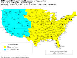 Tv Reception Map Abc Coverage Map The Sports Arsenal