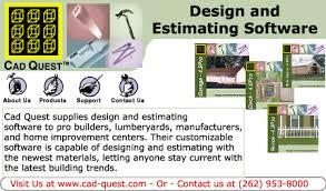 Home Design Software Estimating Cadquest Design And Estimating Software