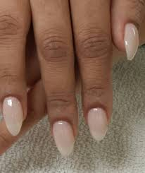 oval shaped acrylic nails with american manicure yelp