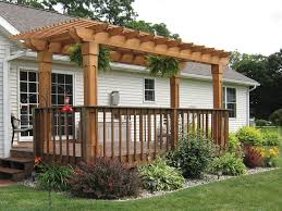 Wood Pergola Plans by Attached Pergola Plans With Photos Home Exterior Design