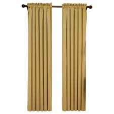 Curtain Panels Eclipse Suede Blackout Gold Curtain Panel 84 In Length