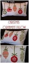 christmas pillow idea fabricornament pillow my creations