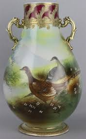 Nippon Vase Price Guide Price Guide For Nippon Hand Painted Vase With Birds Marked