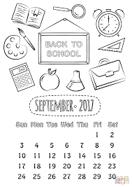 September 2017 Calendar Coloring Page Free Printable Coloring Pages Coloring Pages For September
