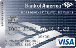 Visa Business Card Travel Rewards Small Business Credit Cards From Bank Of America