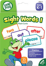 words cards leapfrog sight words i flash cards for grades k 1 pack