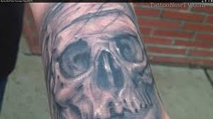 big gus skull tattoo time lapse tattoonow tv youtube
