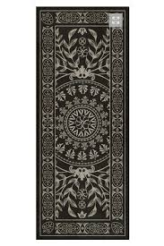 black valencia vinyl floor cloth cottage home