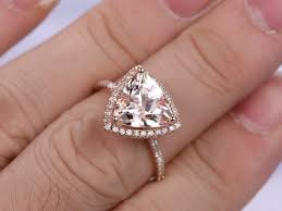 10mm diamond 10mm trillion pink morganite engagement ring new design morganite