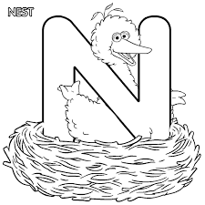 sesame street free alphabet coloring pages sesame street