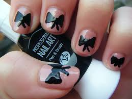 nail designs bows beautify themselves with sweet nails