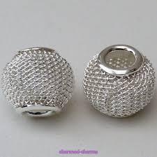 european beads bracelet images Silver plated european styled charm bracelet mesh spacer beads jpg