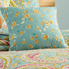 Aqua Bedspread Persnickety Paisley Aqua Coverlet Set By J Queen New York