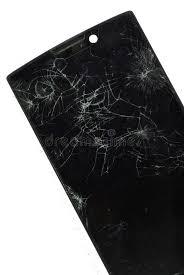 sedere rotto smartphone mobile moderno con lo schermo rotto isolato sulle