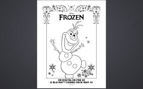 free frozen coloring pages activity sheet printables