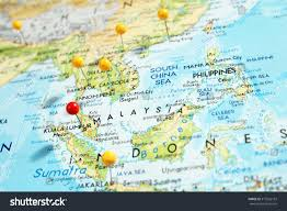 Georgetown Map Pins On Map Focus On Kuala Stock Photo 315926132 Shutterstock