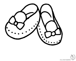 coloring page of shoes for little for coloring for kids