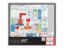 baby boy photo album mambi album kit box 12x12 baby boy createforless