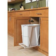 under sink trash can simple design of kitchen with door mounted