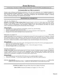 sales resume sle retail resumes picture a sle resume manager for clerk