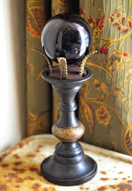 crystal ball stand sphere stand wiccan decor wiccan altar