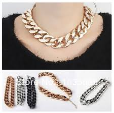 link choker necklace images 1pc lot free shipping byzantine cuban link chain chunky gold jpg
