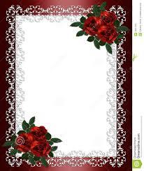 cadre photo mariage roses de de cadre d invitation de mariage photo libre de