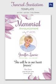 Sample Memorial Programs Charming Memorial Service Invitation Cards 30 In Cheap Wedding