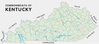 map kentucky lakes rivers kentucky atlas and gazetteer
