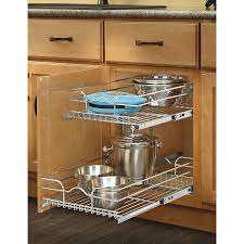 shop rev a shelf 14 75 in w x 19 in h metal 2 tier pull out