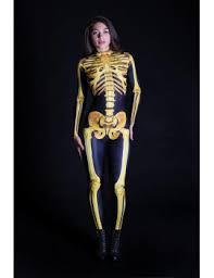Anatomy Halloween Costumes Shoptagr Golden Skeleton Costume Skeleton Bodysuit Gothic