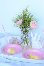 Easter Table Decor Colorful And Simple Easter Table Decor U2013 Bunny Baubles