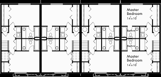 2 master bedroom floor plans 4 plex plans fourplex plans 2 master bedroom plans f 542