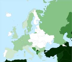 World War 1 Map Of Europe Islam In Europe Wikipedia